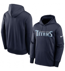 Men Tennessee Titans Nike Fan Gear Wordmark Performance Pullover Hoodie Navy