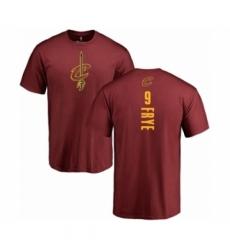 Men NBA Nike Cleveland Cavaliers 9 Channing Frye Maroon Backer T Shirt