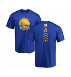 Men NBA Nike Golden State Warriors 4 Quinn Cook Royal Blue Backer T Shirt