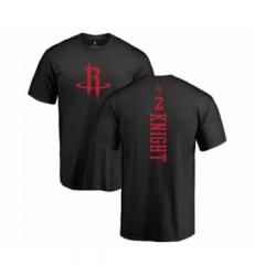 Men NBA Nike Houston Rockets 2 Brandon Knight Black One Color Backer T Shirt