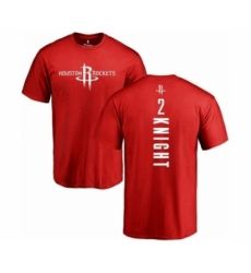 Men NBA Nike Houston Rockets 2 Brandon Knight Red Backer T Shirt