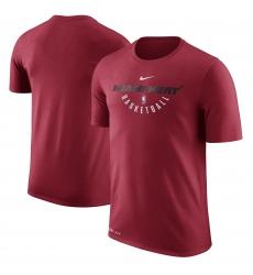 Men Miami Heat Red Nike Practice Performance T Shirt