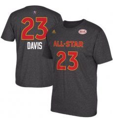 Men Pelicans 23 Anthony Davis adidas 2017 All Star Game Name 26 Number T Shirt  Charcoal