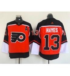 Men Philadelphia Flyers 13 Kevin Hayes Orange 2021 Reverse Retro Authentic Jersey