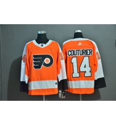 Men Philadelphia Flyers 14 Sean Couturier Orange Adidas Jersey
