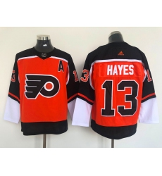 Men Philadelphia Flyers Kevin Hayes 13 2020 21 Reverse Retro Alternate NHL Jersey