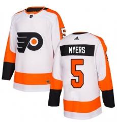 Women Philadelphia Flyers Philippe Myers White Adidas Authentic Home Jersey