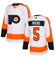 Youth Philadelphia Flyers Philippe Myers White Adidas Authentic Home Jersey