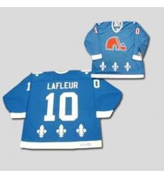 Nordiques #10 Guy Lafleur Stitched CCM Throwback blue NHL Jersey