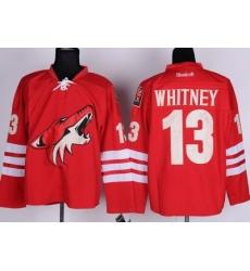 Phoenix Coyotes 13 Ray Whitney Red NHL Jerseys