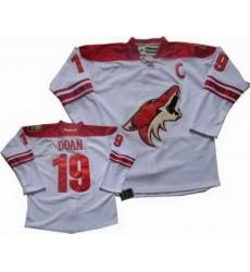 Phoenix Coyotes #19 Shane Doan white Jersey C patch