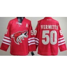 Phoenix Coyotes #50 Antoine Vermette Red NHL Jerseys