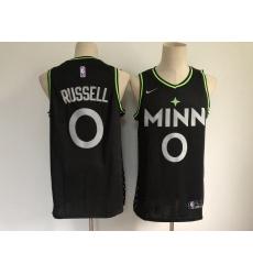Men Minnesota Timberwolves 0 D 27Angelo Russell Black 2021 Nike City Edition Swingman Stitched NBA Jersey
