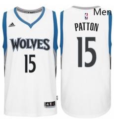 Minnesota Timberwolves 15 Justin Patton Home White New Swingman Stitched NBA Jersey