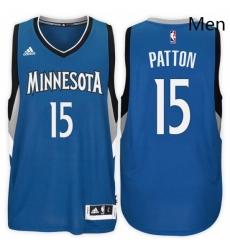 Minnesota Timberwolves 15 Justin Patton Road Blue New Swingman Stitched NBA Jersey