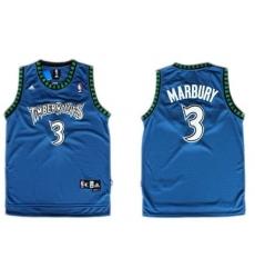 Minnesota Timberwolves #3 Stephon Marbury Blue Swingman Jersey