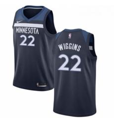 Womens Nike Minnesota Timberwolves 22 Andrew Wiggins Swingman Navy Blue Road NBA Jersey Icon Edition