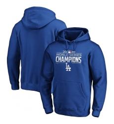 Men Los Angeles Dodgers 2020 World Series Champions Logo Pullover Hoodie Royal