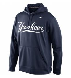 MLB New York Yankees Nike Men KO Wordmark Perfomance Hoodie Navy