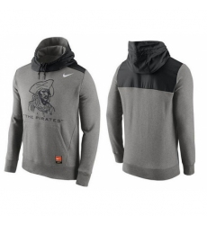 MLB Men Pittsburgh Pirates Nike Gray Cooperstown Collection Hybrid Pullover Hoodie