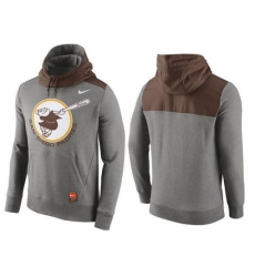 MLB Men San Diego Padres Nike Gray Cooperstown Collection Hybrid Pullover Hoodie