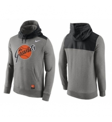 MLB Men San Francisco Giants Nike Gray Cooperstown Collection Hybrid Pullover Hoodie