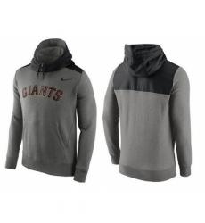 MLB Men San Francisco Giants Nike Gray Hybrid Hoodie