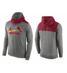 MLB Men St Louis Cardinals Nike Gray Hybrid Hoodie