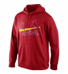MLB St Louis Cardinals Nike Men KO Wordmark Perfomance Hoodie Red