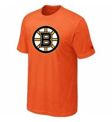 NHL Men Boston Bruins Big Tall Logo T Shirt Orange