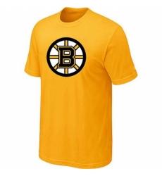 NHL Men Boston Bruins Big Tall Logo T Shirt Yellow