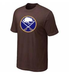 NHL Men Buffalo Sabres Big Tall Logo T Shirt Brown