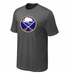 NHL Men Buffalo Sabres Big Tall Logo T Shirt Dark Grey