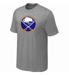 NHL Men Buffalo Sabres Big Tall Logo T Shirt Grey