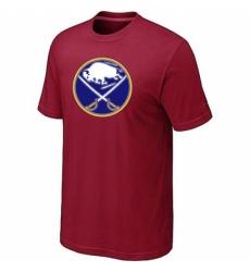 NHL Men Buffalo Sabres Big Tall Logo T Shirt Red