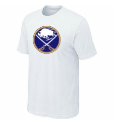 NHL Men Buffalo Sabres Big Tall Logo T Shirt White