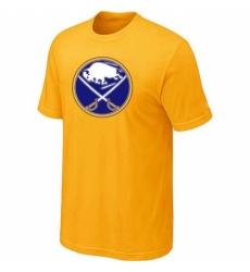 NHL Men Buffalo Sabres Big Tall Logo T Shirt Yellow
