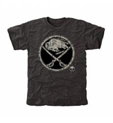 NHL Men Buffalo Sabres Black Rink Warrior Tri Blend T Shirt