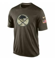 NHL Men Buffalo Sabres Nike Olive Salute To Service KO Performance Dri FIT T Shirt