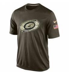 NHL Men Carolina Hurricanes Nike Olive Salute To Service KO Performance Dri FIT T Shirt