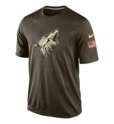 NHL Men Arizona Coyotes Nike Olive Salute To Service KO Performance Dri FIT T Shirt