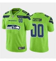 Men Women Youth Toddler Seattle Seahawks Custom Green Men Nike Big Team Logo Player Vapor Limited NFL Jersey