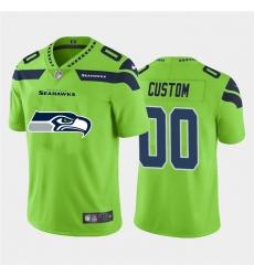 Men Women Youth Toddler Seattle Seahawks Custom Green Men Nike Big Team Logo Vapor Limited NFL Jersey