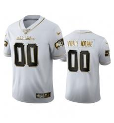 Men Women Youth Toddler Seattle Seahawks Custom Men Nike White Golden Edition Vapor Limited NFL 100 Jersey