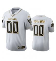 Men Women Youth Toddler Tampa Bay Buccaneers Custom Men Nike White Golden Edition Vapor Limited NFL 100 Jersey