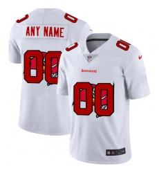 Men Women Youth Toddler Tampa Bay Buccaneers Custom White Men Nike Team Logo Dual Overlap Limited NFL Jersey