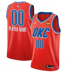 Men Women Youth Toddler All Size Oklahoma City Thunder Nike Orange Swingman Custom Icon Edition Jersey