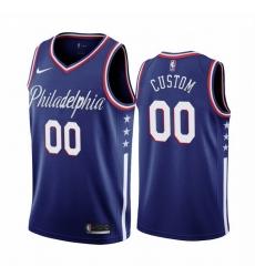 Men Women Youth Toddler All Size Philadelphia 76ers Custom Navy 2019 20 City Edition Swingman NBA Jersey