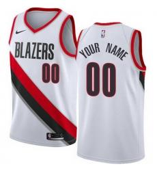Men Women Youth Toddler All Size Nike Portland Trail Portland Blazers Customized Swingman White Home NBA Association Edition Jersey