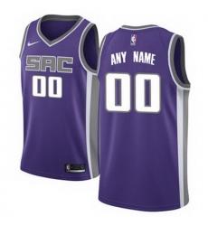 Men Women Youth Toddler All Size Sacramento Kings Nike Purple Swingman Custom Icon Edition Jersey